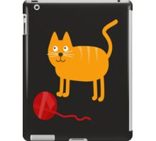 Funny Lovely Vector Graphic Cat For Animal Kitty Lovers iPad Case/Skin
