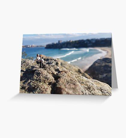 Beach Wedding Miniatures Greeting Card