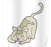 cartoon cat playing Poster