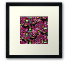 festive deer purple Framed Print