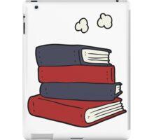 cartoon stack of books iPad Case/Skin