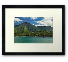 Ready To Sail In Hanalei Bay Framed Print