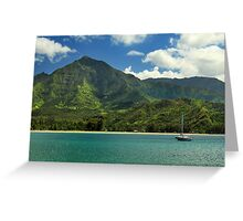 Ready To Sail In Hanalei Bay Greeting Card