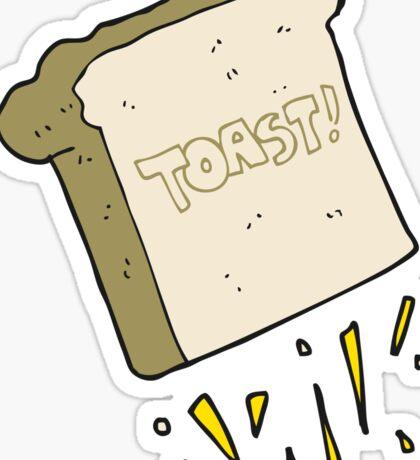 cartoon toast Sticker