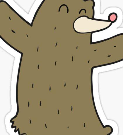 cartoon bear Sticker