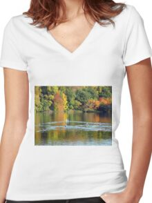 The quieter you become the more you can hear. Women's Fitted V-Neck T-Shirt