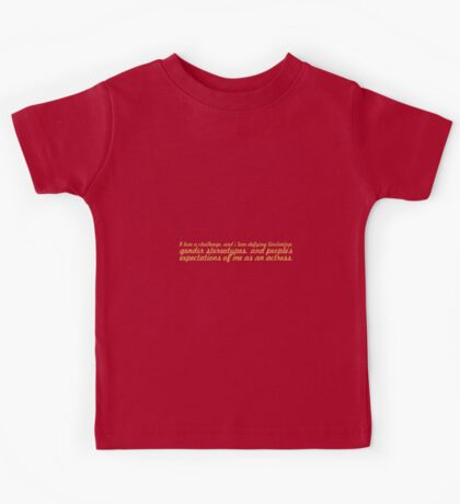 I love a challenge... Inspirational Quote Kids Tee