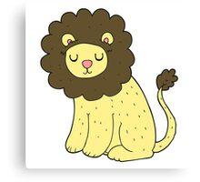 cartoon cute lion Canvas Print