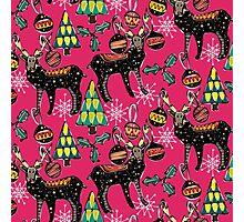 festive deer pink Photographic Print