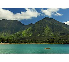 Kayaks In Hanalei Bay Photographic Print