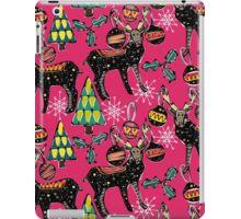festive deer pink iPad Case/Skin
