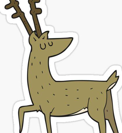 cartoon stag Sticker