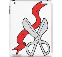 cartoon scissors cutting ribbon iPad Case/Skin
