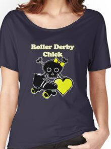 Roller Derby Chick (Yellow) Women's Relaxed Fit T-Shirt