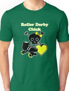 Roller Derby Chick (Yellow) Unisex T-Shirt