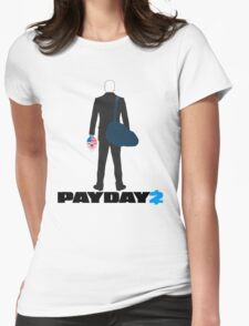 Payday 2-Dallas-Black Womens Fitted T-Shirt
