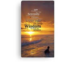 Serenity Prayer With Sunset By Sharon Cummings Canvas Print