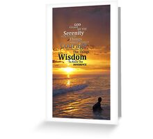 Serenity Prayer With Sunset By Sharon Cummings Greeting Card