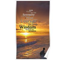 Serenity Prayer With Sunset By Sharon Cummings Poster