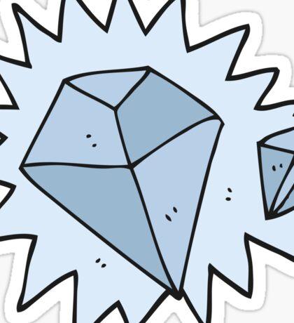 cartoon diamonds Sticker