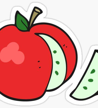 cartoon apple Sticker
