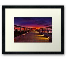 """Dawn Promenade"" Framed Print"