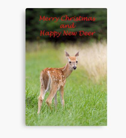 Christmas fawn Canvas Print