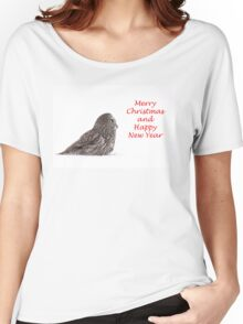 Christmas Great Grey Owl Women's Relaxed Fit T-Shirt