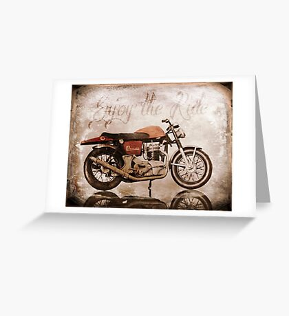 'Enjoy the Ride' Classic Motorcycle Greeting Card