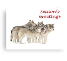 Christmas Wolf Pack Canvas Print