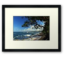 The Beach At Kapaa Framed Print