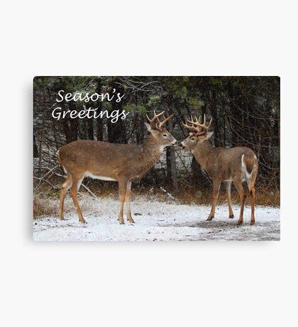 Season's Greetings deer Canvas Print