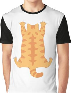 Funny Fat Cat Hanging Down Cute Hug Love  Graphic T-Shirt