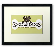 Dogs Furrlowship of the Ring  Framed Print