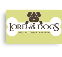 Dogs Furrlowship of the Ring  Canvas Print