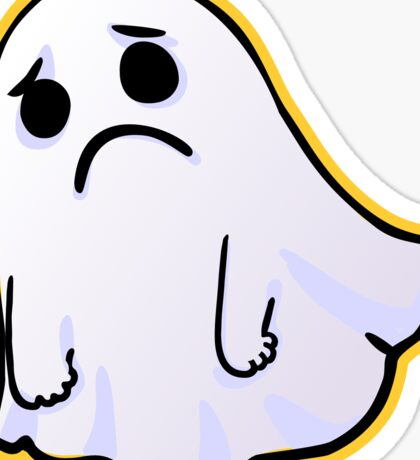 Unhappy ghost Sticker Sticker