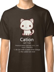 Cute Science Cat T-Shirt Kawaii Cation Chemistry Pawsitive Classic T-Shirt