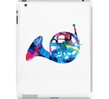 Colorful French Horn 2 - Cool Colors Abstract Art Sharon Cummings iPad Case/Skin