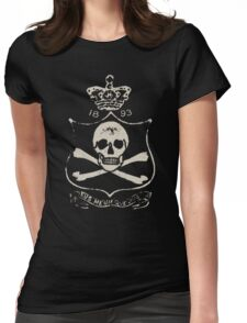 Gothic pirate skull and bones Womens Fitted T-Shirt