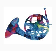 Colorful French Horn 2 - Cool Colors Abstract Art Sharon Cummings Kids Clothes