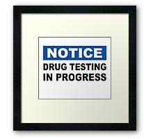 Drug Testing in Progress Framed Print