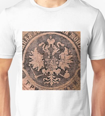 Threadbare coat of arms of the Russian empire Unisex T-Shirt