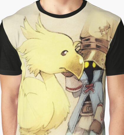 Vivi & Chocobo Graphic T-Shirt