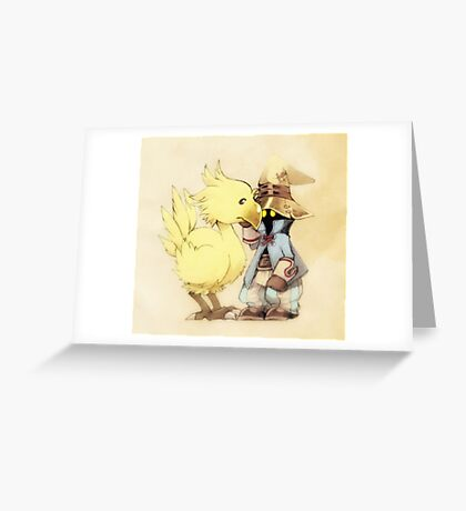 Vivi & Chocobo Greeting Card