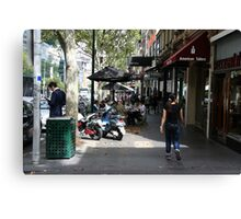Busy Bourke street, Melbourne Canvas Print
