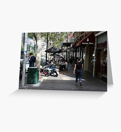 Busy Bourke street, Melbourne Greeting Card