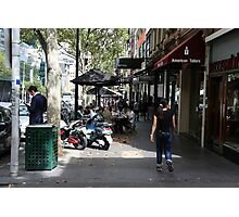 Busy Bourke street, Melbourne Photographic Print