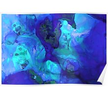 Violet Blue - Abstract Art By Sharon Cummings Poster