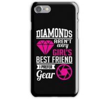 Photography: Diamonds? I prefer gear! iPhone Case/Skin