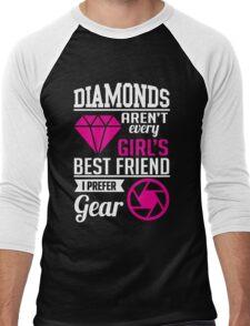 Photography: Diamonds? I prefer gear! Men's Baseball ¾ T-Shirt